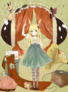 Rating: Safe Score: 28 Tags: animal_ears bunny_ears dress headphones uku User: Phiris