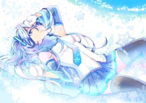 Rating: Safe Score: 21 Tags: alls hatsune_miku thighhighs vocaloid yuki_miku User: charunetra