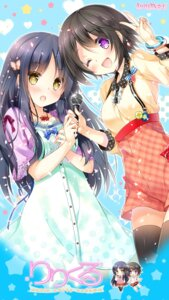 Rating: Safe Score: 53 Tags: chibi dress lilycle_~lily_lyric_cycle~ miwabe_sakura particle seifuku shiina_mai shiina_mayu_(lilycle) thighhighs User: Radioactive