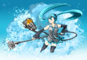 Rating: Safe Score: 7 Tags: hatsune_miku kawazu thighhighs vocaloid User: charunetra