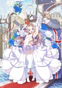 Rating: Questionable Score: 37 Tags: alicia_(schrdingerscat) azur_lane cameltoe dress heels no_bra pantsu queen_elizabeth_(azur_lane) thighhighs wedding_dress User: Nepcoheart