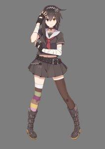 Rating: Safe Score: 18 Tags: 47_heroines bandages heels heterochromia housa_mutsumi seifuku thighhighs tomioka_jirou transparent_png User: saemonnokami
