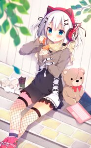 Rating: Safe Score: 49 Tags: animal_ears fishnets headphones izumi_yuhina nekomimi sweater thighhighs User: BattlequeenYume