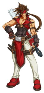 Rating: Questionable Score: 4 Tags: guilty_gear guilty_gear_xx_accent_core male sol_badguy weapon User: Yokaiou