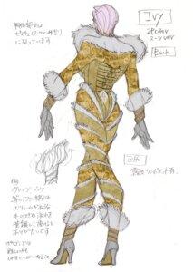 Rating: Questionable Score: 5 Tags: ass bodysuit character_design corset heels ivy_valentine sketch soul_calibur soul_calibur_v User: Yokaiou