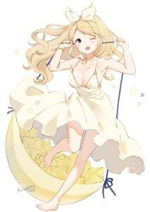 Rating: Safe Score: 36 Tags: cleavage dress shiratama_akane summer_dress User: Mr_GT