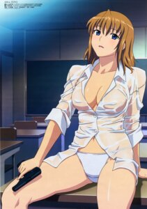 Rating: Questionable Score: 65 Tags: agent_aika aika_zero cleavage dress_shirt erect_nipples fixed gun no_bra pantsu see_through sumeragi_aika wet wet_clothes yamauchi_noriyasu User: mohawk