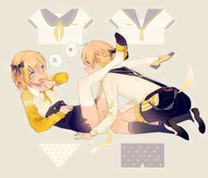 Rating: Questionable Score: 27 Tags: kagamine_len kagamine_rin panty_pull ryuutsuki_basetsu seifuku tail thighhighs vocaloid User: charunetra