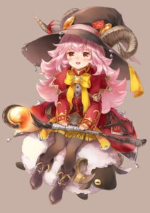 Rating: Safe Score: 9 Tags: horns netamaru pantyhose weapon witch User: Mr_GT