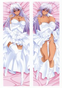 Rating: Questionable Score: 85 Tags: breasts cameltoe cleavage dakimakura dress erect_nipples heels izumi_mahiru nipples no_bra pantsu pointy_ears skirt_lift thighhighs wedding_dress User: Bulzeeb