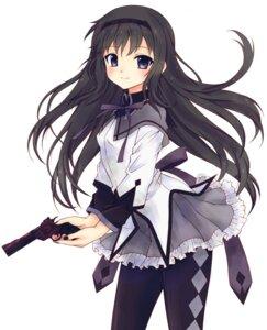 Rating: Safe Score: 19 Tags: akemi_homura gun pantyhose puella_magi_madoka_magica riri_(artist) User: charunetra