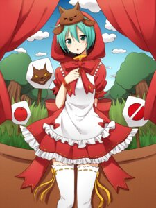 Rating: Safe Score: 38 Tags: hatsune_miku little_red_riding_hood_(character) sudachi thighhighs vocaloid User: charunetra