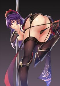 Rating: Questionable Score: 116 Tags: armor ass benghuai_xueyuan garter_belt heels nipples pantsu panty_pull raiden_mei stockings thighhighs topless undressing zombie-andy User: Mr_GT