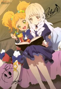 Rating: Safe Score: 25 Tags: aikatsu! aikatsu_stars! autographed dress nikaidou_yuzu pantyhose shirogane_lilly uniform watanabe_satomi User: drop