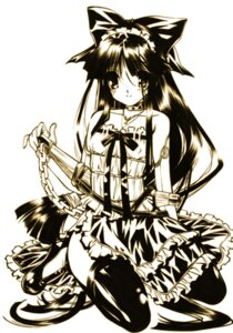 Rating: Safe Score: 9 Tags: monochrome senomoto_hisashi thighhighs User: fairyren