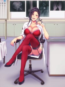 Rating: Questionable Score: 50 Tags: amani cleavage heels nopan stockings thighhighs User: 1z2x1z