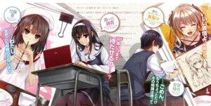 Rating: Safe Score: 28 Tags: kasumigaoka_utaha katou_megumi misaki_kurehito pantyhose saenai_heroine_no_sodatekata sawamura_spencer_eriri seifuku User: kiyoe