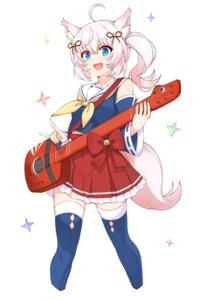 Rating: Safe Score: 18 Tags: aixioo animal_ears howan kitsune seifuku show_by_rock!! show_by_rock!!_mashumairesh!! tail thighhighs User: fairyren
