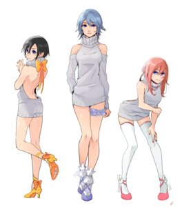 Rating: Safe Score: 27 Tags: aqua_(kingdom_hearts) dress garter heels kairi_(kingdom_hearts) kingdom_hearts no_bra sweater tagme thighhighs xion_(kingdom_hearts) User: BattlequeenYume