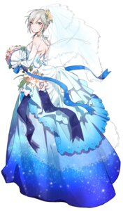 Rating: Safe Score: 47 Tags: anastasia_(idolm@ster) aniki dress the_idolm@ster the_idolm@ster_cinderella_girls wedding_dress User: charunetra