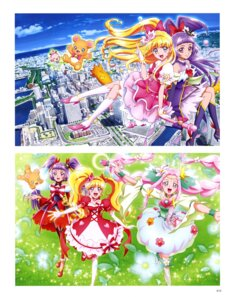 Rating: Safe Score: 4 Tags: asahina_mirai dress haa-chan_(precure) heels izayoi_riko mahou_girls_precure! mofurun_(precure) pretty_cure tagme User: drop