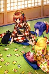 Rating: Questionable Score: 19 Tags: dress harukawa_moe hieda_no_akyuu kimono motoori_kosuzu touhou User: drop