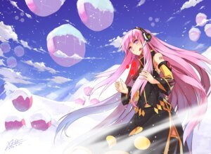 Rating: Safe Score: 3 Tags: megurine_luka thighhighs vocaloid wallpaper x-boy User: Humanpinka