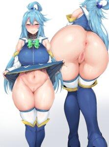 Rating: Explicit Score: 44 Tags: anus aqua_(kono_subarashii_sekai_ni_shukufuku_wo!) ass censored erect_nipples kono_subarashii_sekai_ni_shukufuku_wo! nopan pussy skirt_lift thighhighs yomomirin User: Mr_GT