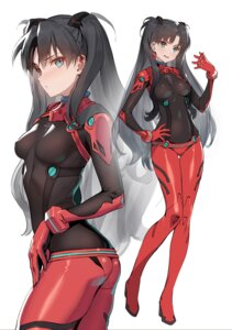 Rating: Safe Score: 41 Tags: ass bodysuit cosplay fate/stay_night heels neon_genesis_evangelion siino souryuu_asuka_langley toosaka_rin User: Thorcsf