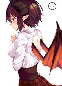 Rating: Questionable Score: 25 Tags: grea_(shingeki_no_bahamut) horns manaria_friends no_bra pointy_ears shingeki_no_bahamut wings yamato_(muchuu_paradigm) User: Dreista