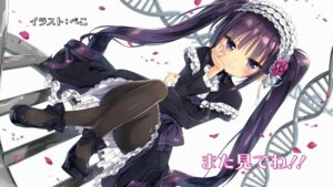 Rating: Safe Score: 117 Tags: absolute_duo dress endcard gothic_lolita heels lolita_fashion pantyhose peco tsukumo_sakuya wallpaper User: Mr_GT