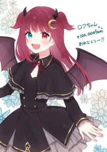 Rating: Safe Score: 13 Tags: chiyomaru dress heterochromia horns nijisanji tagme wings yuzuki_roa User: charunetra
