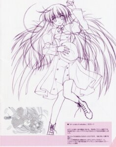 Rating: Safe Score: 16 Tags: amamiya_yuuko ef_~a_fairytale_of_the_two~ monochrome nanao_naru seifuku sketch User: admin2