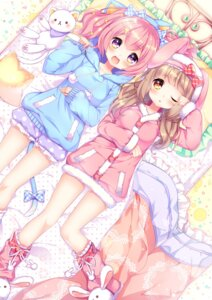 Rating: Safe Score: 62 Tags: animal_ears bloomers bunny_ears natsume_asato nekomimi pajama tail User: nphuongsun93