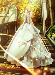 Rating: Safe Score: 116 Tags: dress fate/stay_night fate/stay_night_unlimited_blade_works fate/zero magicians saber wedding_dress User: sylver650