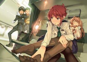 Rating: Questionable Score: 48 Tags: breast_hold feet koumi_haruka pantyhose rail_wars! sakurai_aoi_(rail_wars!) tagme uniform User: kiyoe