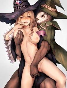 Rating: Explicit Score: 72 Tags: breast_grab dorothy_(shingeki_no_bahamut) fingering inaba_sunimi naked_cape nipples pussy_juice shingeki_no_bahamut witch User: sym455