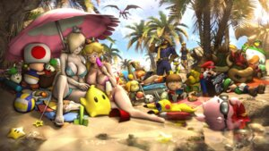 Rating: Questionable Score: 18 Tags: bikini cleavage heels mario mario_bros. megane swimsuits User: 1z2x1z