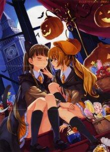 Rating: Questionable Score: 16 Tags: animal_ears crease halloween misaki_kurehito nekomimi seifuku tail User: hugo_victor