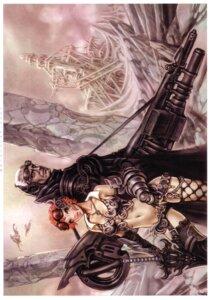 Rating: Safe Score: 11 Tags: armor cleavage gun sword thighhighs yamashita_shunya User: Radioactive