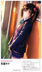 Rating: Safe Score: 61 Tags: kazuharu_kina love_live! seifuku sweater yazawa_nico User: drop