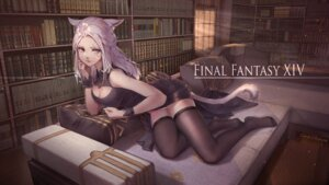 Rating: Safe Score: 19 Tags: animal_ears cleavage final_fantasy final_fantasy_xiv heterochromia miqo'te pantsu skirt_lift tagme tail thighhighs User: Mr_GT