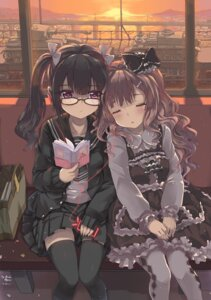 Rating: Safe Score: 62 Tags: abyss_of_parliament headphones lolita_fashion megane pantyhose seifuku thighhighs User: 椎名深夏