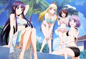 Rating: Questionable Score: 133 Tags: aida_makoto_(artist) ass asuka_mikoto bikini cleavage feet itou_miyabi odagiri_nene shiraishi_urara swimsuits wet yamada-kun_to_7-nin_no_majo User: drop