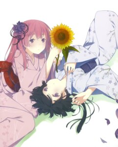 Rating: Safe Score: 38 Tags: akishino_himeka disc_cover fuyuumi_ai kimono ore_no_kanojo_to_osananajimi_ga_shuraba_sugiru ruroo User: fireattack