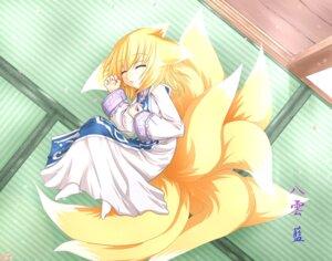 Rating: Safe Score: 11 Tags: kazami_karasu kitsune touhou yakumo_ran User: Shamensyth