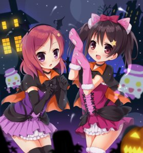 Rating: Safe Score: 33 Tags: animal_ears halloween karaage3 love_live! nekomimi nishikino_maki thighhighs yazawa_nico User: fairyren