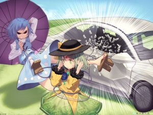 Rating: Safe Score: 10 Tags: komeiji_koishi misoni_comi tatara_kogasa touhou umbrella User: Mr_GT