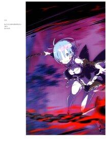 Rating: Safe Score: 29 Tags: blood cleavage maid ootsuka_shinichirou re_zero_kara_hajimeru_isekai_seikatsu rem_(re_zero) thighhighs weapon User: NotRadioactiveHonest