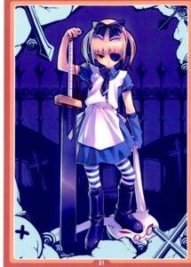 Rating: Safe Score: 19 Tags: alice alice_in_wonderland eyepatch gothic_lolita lolita_fashion sword tasaka_shinnosuke User: Radioactive